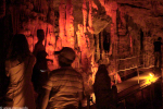A photograph of tourists at the cave tour